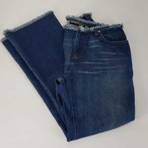 Express jeans flare short distressed  9/10…